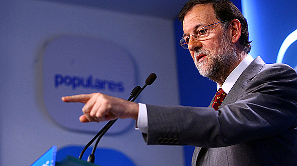 El presidente del Gobierno, Mariano Rajoy, durante su comparencencia tras la reunin del Comit Ejecutivo Nacional del PP