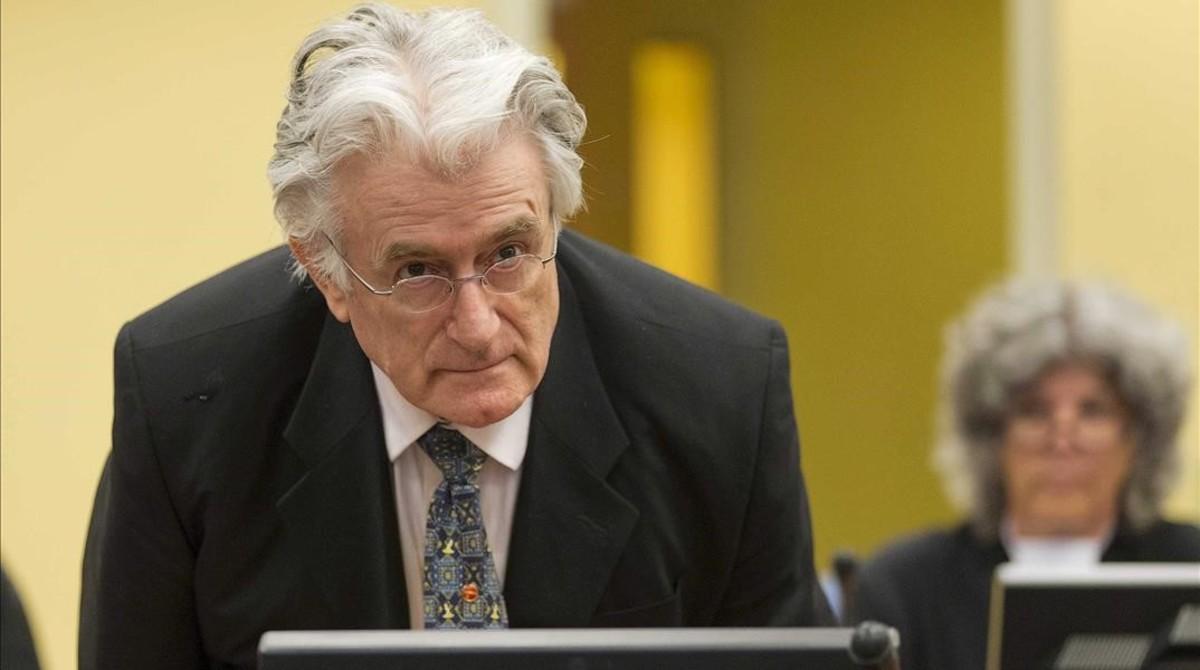Radovan Karadzic, durante su juicio en La Haya, el 11 de julio del 2013.
