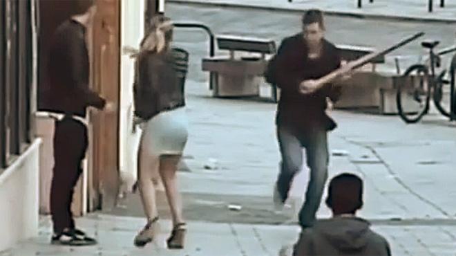 Video de espa�ol agredido en Reino Unido.