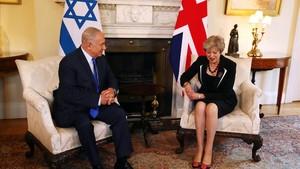 May, con Netanyahu, en Downing Street, este jueves 2 de noviembre.