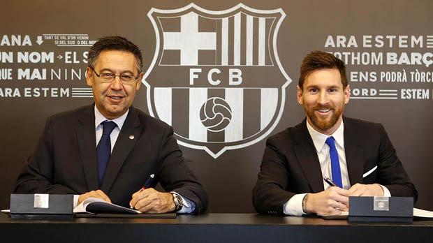 Messi renova el seu contracte