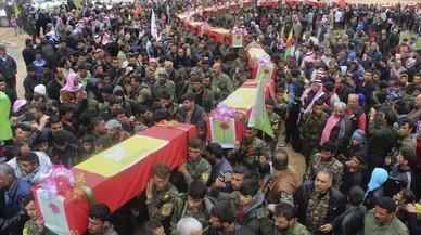 EEUU mata por error a 18 milicianos de los rebeldes sirios