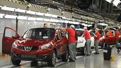 Cadena de montaje de la f�brica de Nissan en Sunderland (Reino Unido).