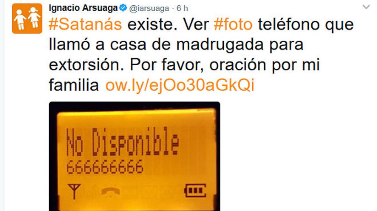 """Arsuaga, presidente de Hazte Oír, denuncia en Twitter una llamada """"de Satanás"""""""