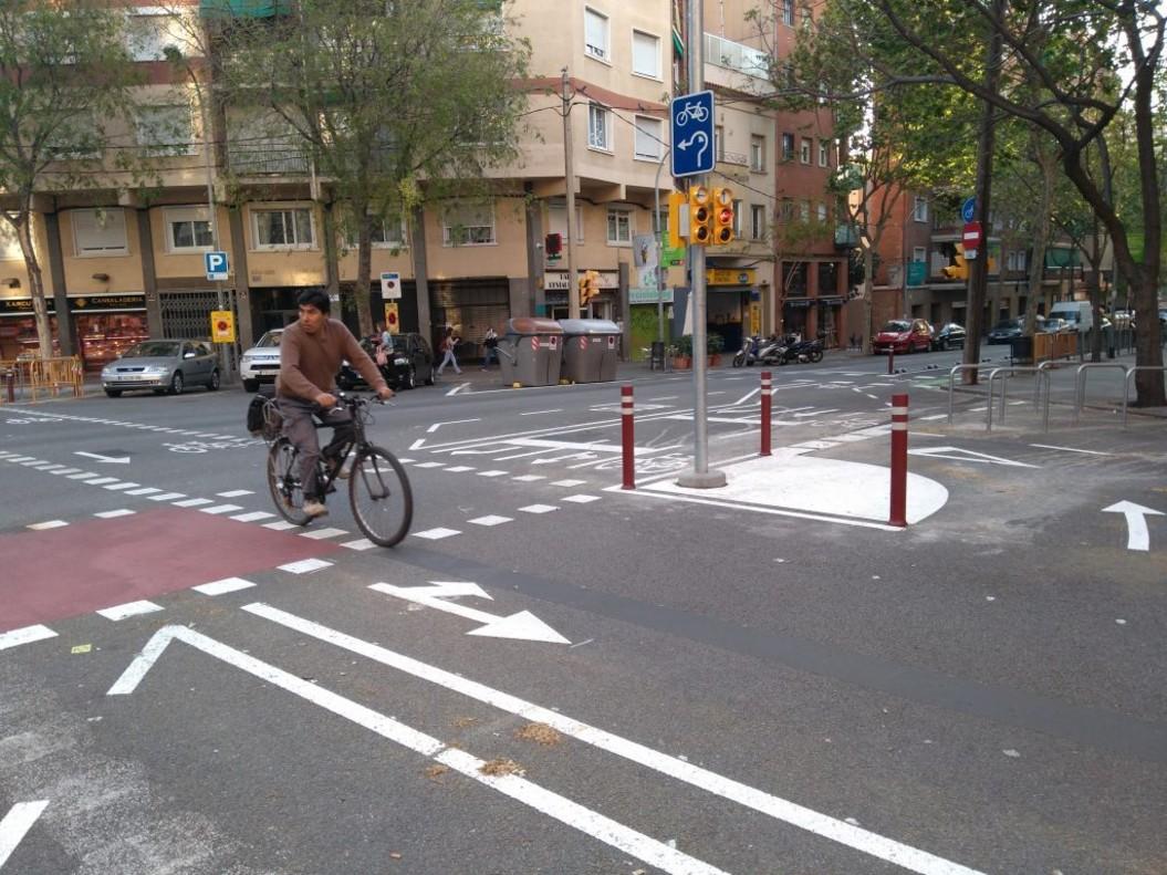 La xarxa de carrils bici de Barcelona s'amplia amb cinc nous carrils