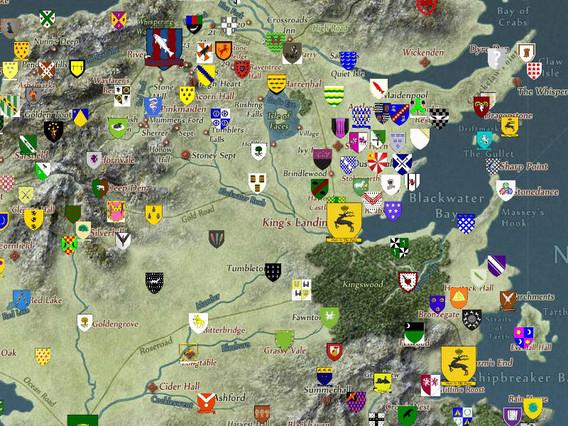 Creado un mapa interactivo de Juego de Tronos a prueba de 'spoilers'