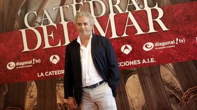 Ildefonso Falcones, en la presentaci�n de la serie televisiva basada en su novela 'La catedral del mar'.
