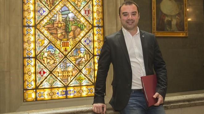 Jordi Ballart, en la sede consistorial de Terrassa.