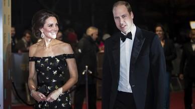 Catalina y Guillermo, en la entregra de los premios Bafta, el pasado 12 de febrero.