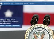Mensaje con el que se encuentran los internautas que quieren acceder a la versión en español de la web de la Casa Blanca.