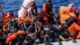MSF rescata a 246 inmigrantes y recupera 25 cad�veres de una balsa a la deriva