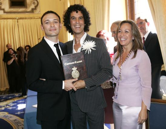 Trinidad Jiménez ofició la boda civil de Pedro Zerolo con su pareja, Jesús Santos, en el Ayuntamiento de Madrid.