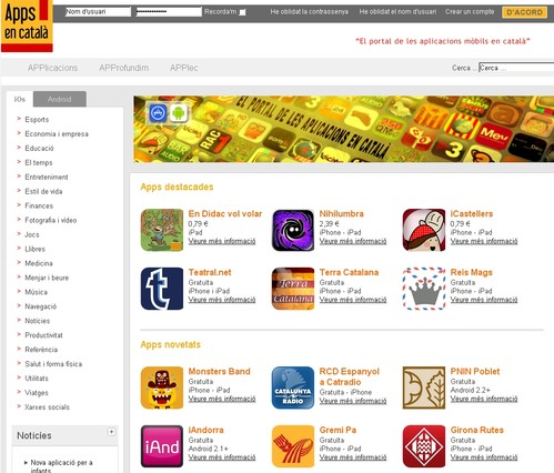 Nace una web que recopila todas las aplicaciones para móviles disponibles en catalán