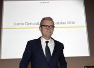 El presidente de Inditex, Pablo Isla, en la junta de accionistas del grupo en Arteixo.