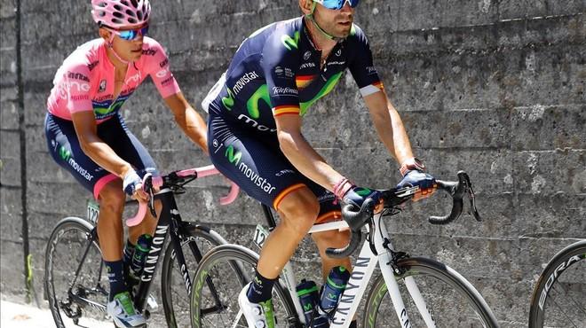 Valverde viu el seu dia negre a les Dolomites