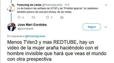 Un regidor de C's a Lleida l'arma a Twitter al recomanar veure més porno i menys TV-3