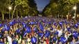 Valladolid bat un rècord Guinness amb 15.000 persones sostenint pilotes de platja