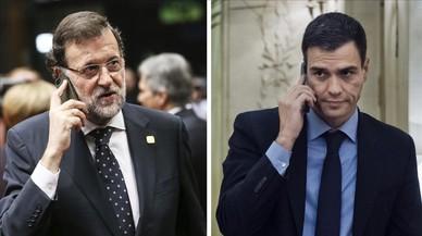Los problemas con el móvil de Rajoy y Sánchez