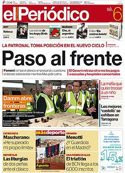 La portada de EL PERIÓDICO