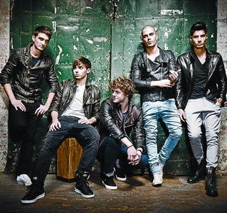 The Wanted, de iquierda a derecha; Tom, Nathan, Jay, Max y Siva.