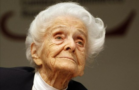 Rita Levi Montalcini, en el 2009, cuando cumpli 100 aos.