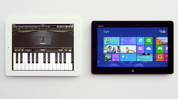 Anuncio de Windows 8: 'Less talking, more doing'.