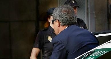 Jordi Pujol Ferrusola entra en la Audiencia Nacional.