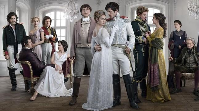 imagen de la miniserie de la bbc guerra y paz