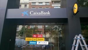 Oficina de CaixaBank en Madrid.