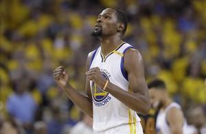Kevin Durant, en un partido de esta temporada con los Warriors