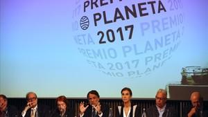 Rueda de prensa del Premio Planeta en el Recinto Modernista de Sant Pau con la presencia del jurado