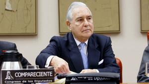 Carlos Dívar, en el 2012, en el Congreso de los Diputados.