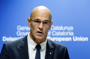 Catalan Foreign Affairs chief Romeva holds a news conference in Brussels
