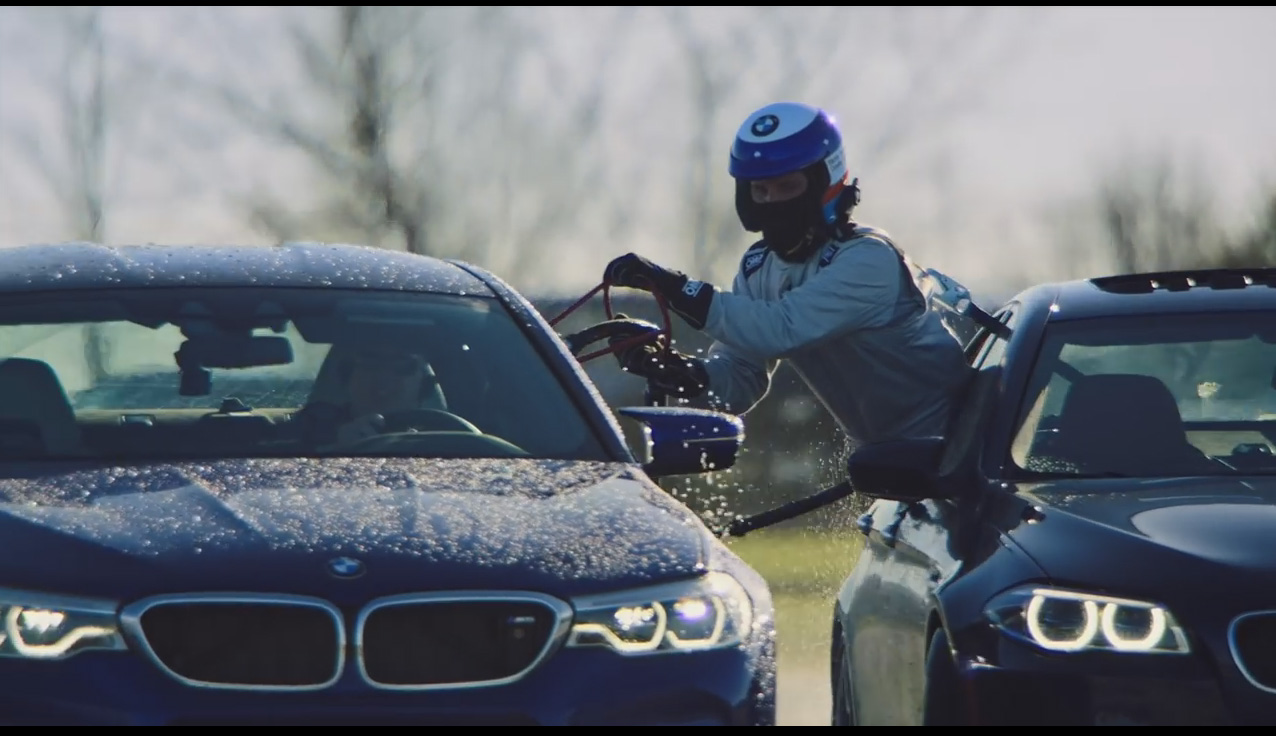 watch the all-new bmw m5 refuel mid-drift to take two guinness world records titlesyoutubecom
