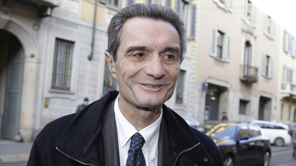 Attilio Fontana, en Milán, en una imagen de archivo.