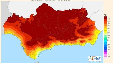La localitat cordovesa de Montoro bat el rècord d'Espanya de calor amb 47,3º