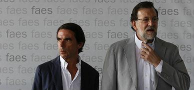 Aznar y Rajoy, en la clausura del campus Faes, hoy.