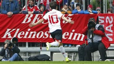 Bojan celebra el primer gol marcado con el Mainz, al Bayern de Múnich.
