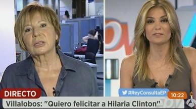 Celia Villalobos, ex presidenta del congreso, en una entrevista para el programa Espejo P�blico.