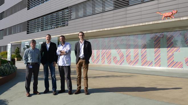 El equipo de Cebiotex, formado por Lucas Krauel, Joan Bertr�n, Jaume Mora y Jos� Antonio Tornero.