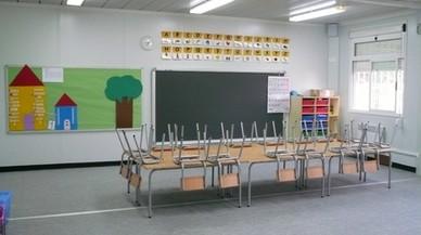 Una aula de primaria de una escuela en Badalona.