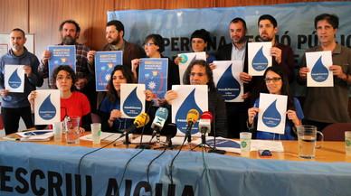 Un centenar d'entitats recolzen la manifestació de Terrassa per la gestió pública de l'aigua