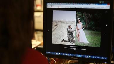 La imagen de una embarazada con su marido, que está a miles de kilómetros, se viraliza