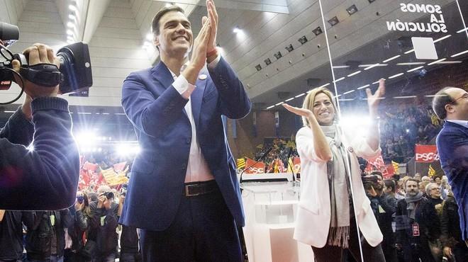 """Sánchez demana que Catalunya sigui la """"punta de llança"""" del canvi a Espanya"""