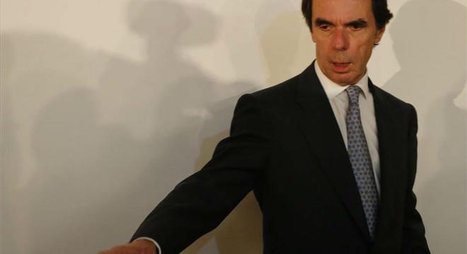 El expresidente Aznar en la presentaci�n de un libro sobre Konrad Adenauer este mi�rcoles.