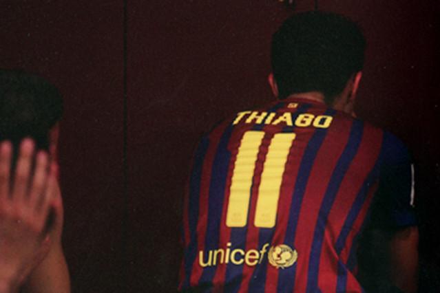 Thiago, tras el partido.