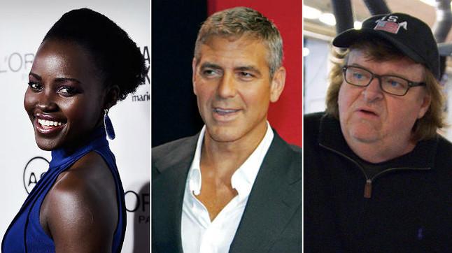 Lupita Nyong'o, George Clooney y Michael Moore tambi�n cargan contra los #OscarsSoWhite