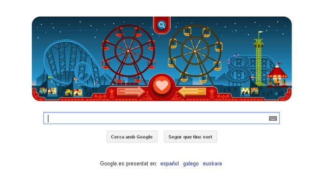 Nuevo 'doodle' de Google que conmemora el 154 cumplea�os del creador de la noria