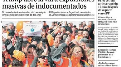 Del bàrbar Trump, el 'roig' Sánchez i el reformador Rivera, que s'encalla a Múrcia
