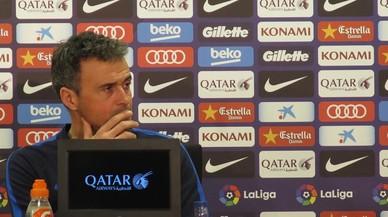 Roda de premsa de Luis Enrique abans de la tornada de la semifinal de Copa